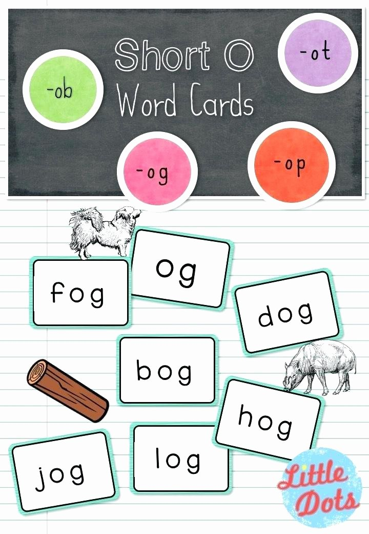 Op Word Family Worksheets Short O Word Family Worksheets