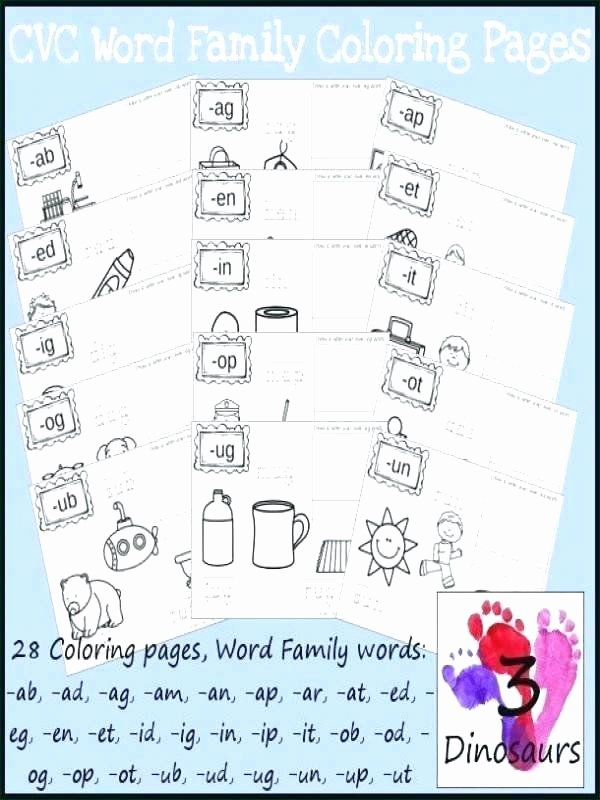 Op Word Family Worksheets Word Family Worksheets It Free Printable Ot Ell Picture Find