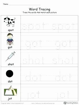Op Word Family Worksheets Word Family Worksheets Workbook for Preschool Free Printable Ot