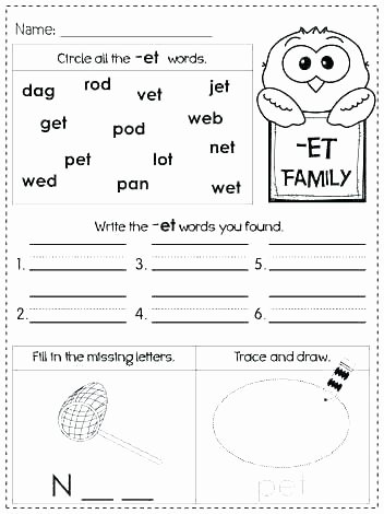 Opposites Preschool Worksheets 3 Letter Words Worksheets for Kindergarten
