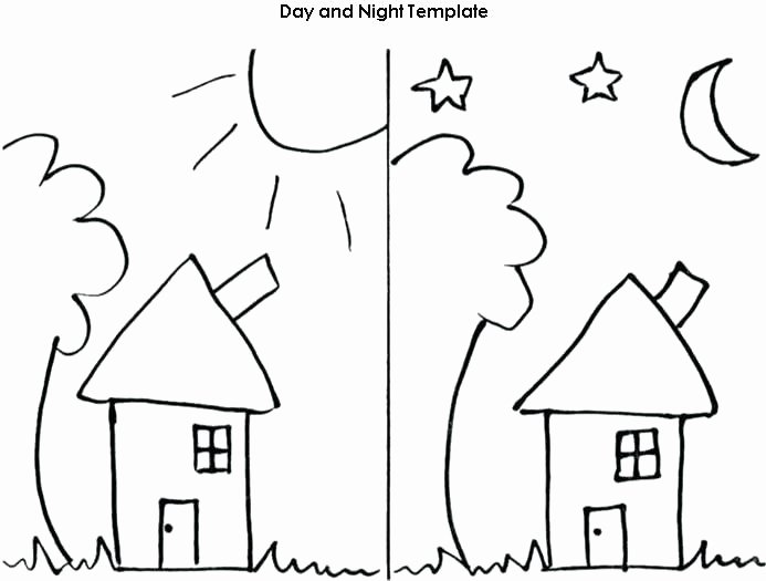 Opposites Preschool Worksheets Day and Night Printable Worksheets Kindergarten Worksheets