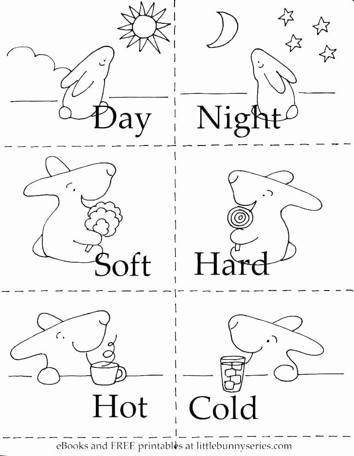 Opposites Worksheet for Kindergarten Free Matching Worksheets for Preschoolers