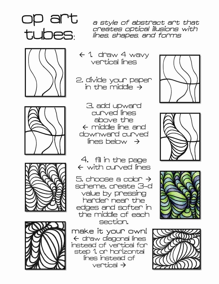 Optical Illusion Worksheets Op Art School