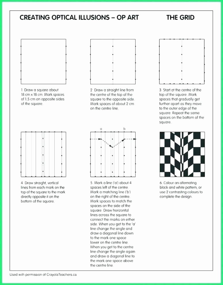 Optical Illusion Worksheets Printable Grid Drawing Worksheets Art Grid Drawing Worksheets Grid