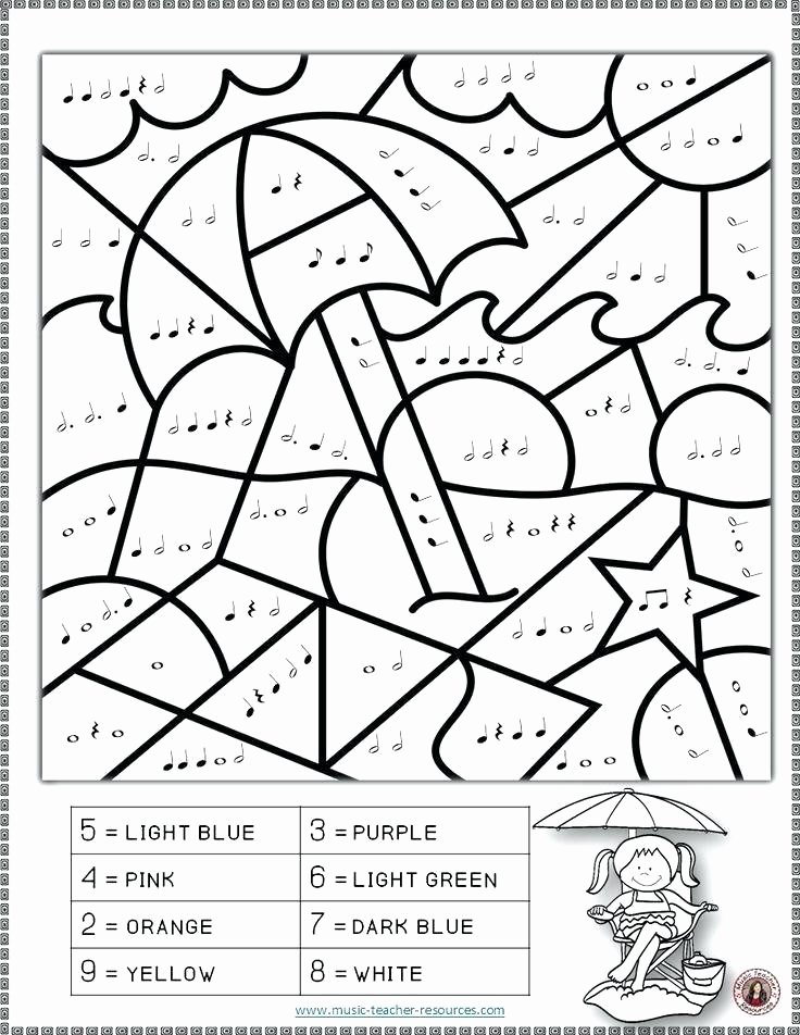 Opus Music Worksheets Answers Music Worksheets Music Coloring Sheets Summer Color by Music