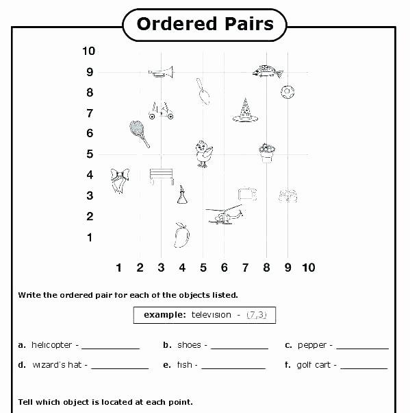 Ordered Pairs Worksheet 5th Grade ordered Pairs Worksheet Printable Worksheets Free Coordinate