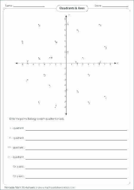 Ordered Pairs Worksheets Math Coordinate Printable Cartesian Graph Paper Practice