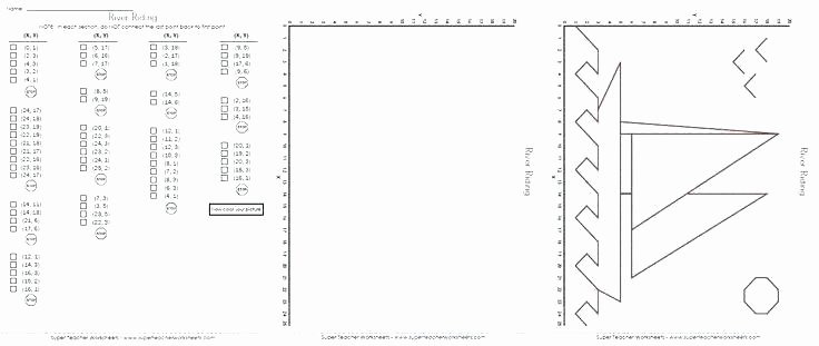Ordered Pairs Worksheets Plotting ordered Pairs to Make A Picture – Jhltransports