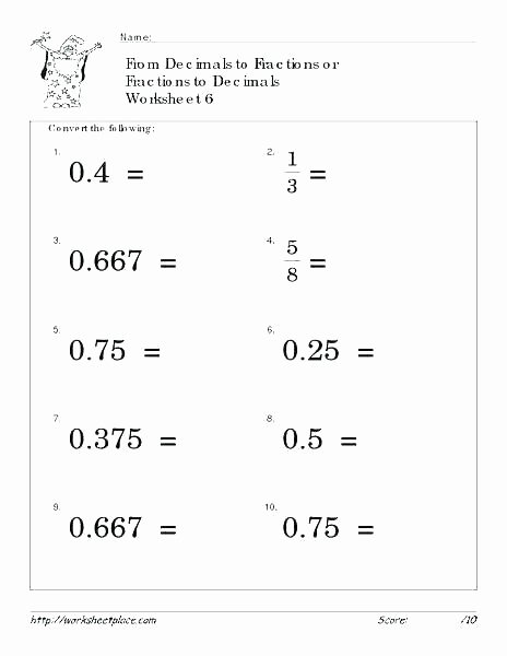Ordering Decimals Worksheet 5th Grade Printable Decimal Worksheets