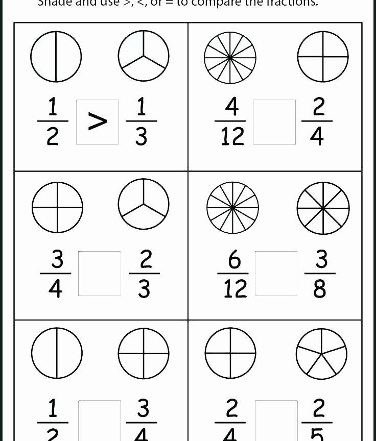 Ordering Fractions Worksheet 4th Grade Free Fraction Worksheets for Fourth Grade