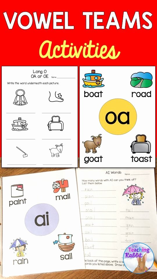 Ou Ow Worksheets Best Of Vowel Teams Activities Inspiring Ela for Ell