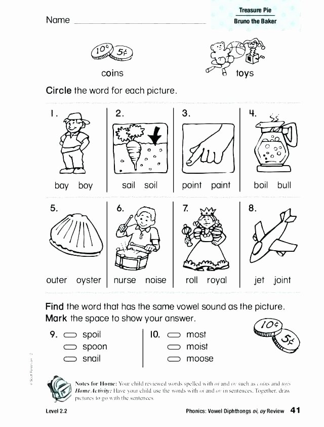 Oy Oi Worksheets soil Worksheets for 1st Grade