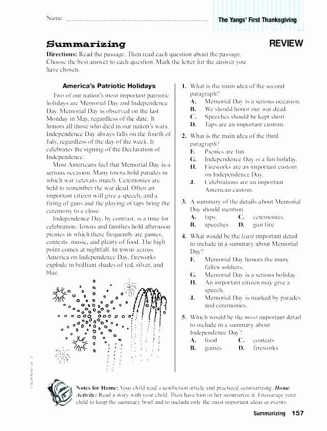 Paraphrasing Worksheets Elementary Awesome Text Structure Worksheets Grade Reading Lessons for