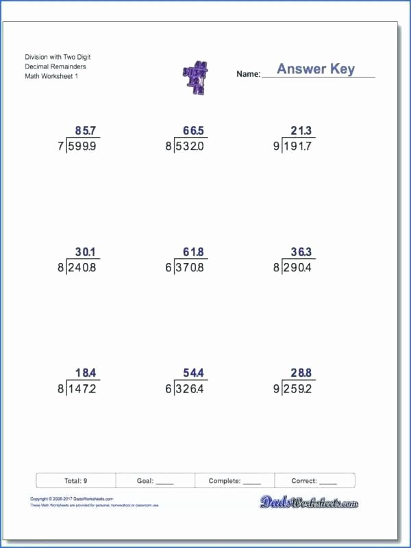 Partial Products Division Worksheets Division Worksheets with Answers Partial Quotient Method