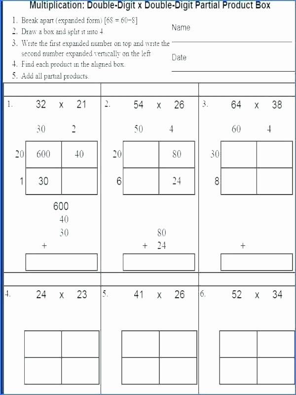 Partial Products Division Worksheets Everyday Math 4th Grade Worksheets – Onlineoutlet