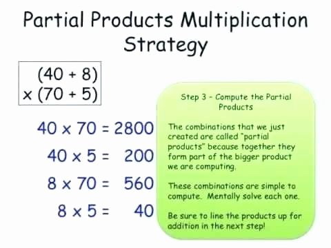 Partial Products Division Worksheets Partial Products Worksheets Math Product Multiplication Pdf