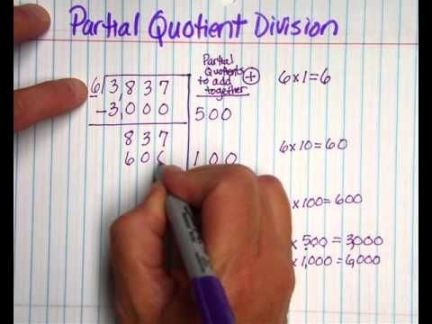 Partial Quotients Worksheet Lovely Partial Quotients Division Method with whole Numbers