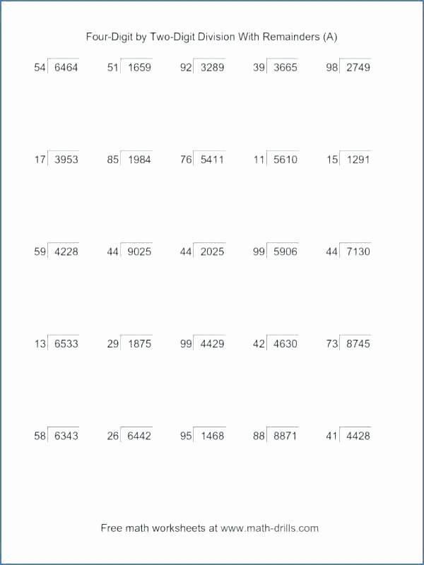 Partial Quotients Worksheet Luxury Two Digit Division Worksheets