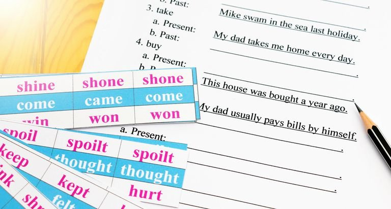 Past Present and Future Worksheets Past Participles In English Grammar