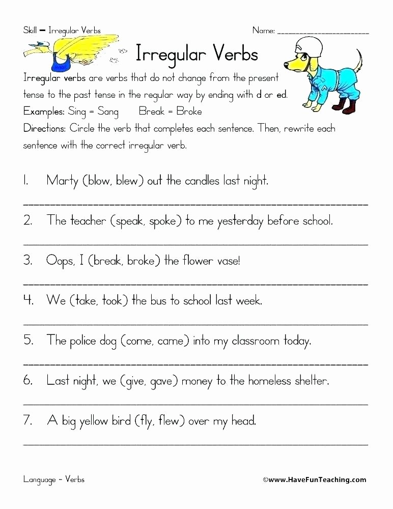 Past Present and Future Worksheets Writing In the Past Tense Present Future Worksheet