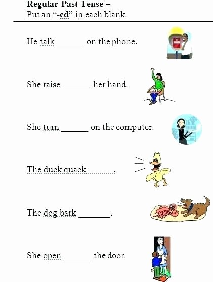 Past Tense Ed Worksheets Verb Tense Worksheets Grammar Practice Simple Present Past
