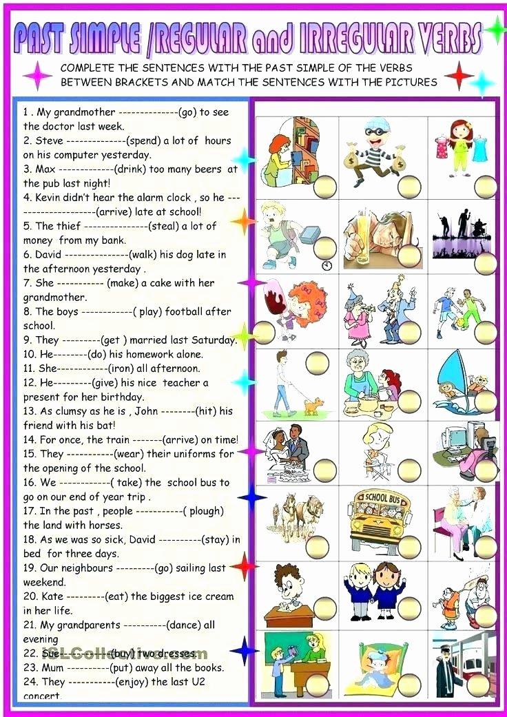 Past Tense Verbs Worksheet Free Printable Irregular Verb Worksheets
