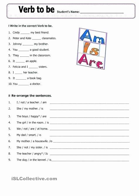 Past Tense Verbs Worksheet Printable Verb Worksheets