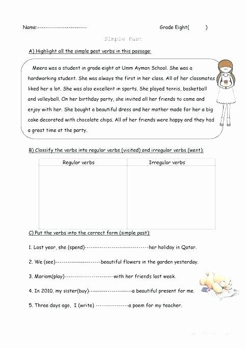 Past Tense Verbs Worksheet Simple Tenses Verbs Worksheets Present Perfect Past
