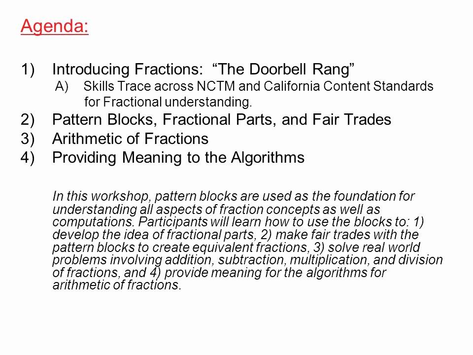 Pattern Block Fraction Worksheets Developing Fraction Sense Ppt Video Online