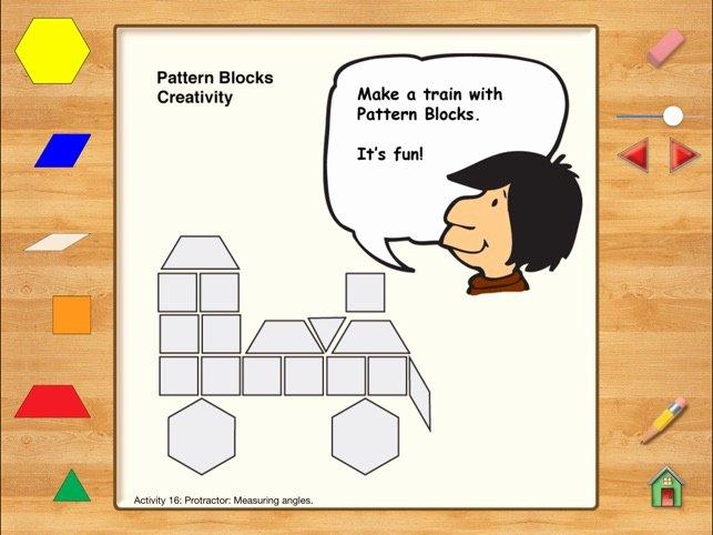 Pattern Block Fraction Worksheets hands Math Pattern Blocks