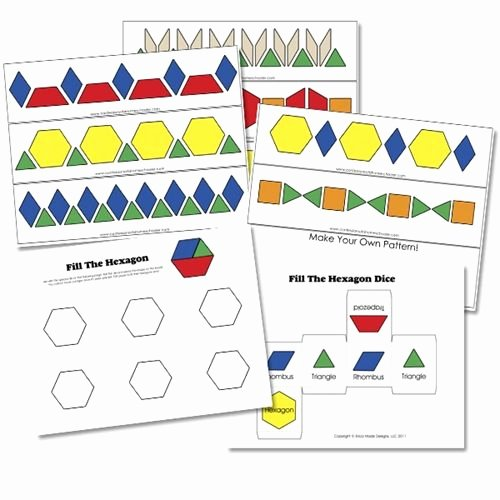 Pattern Blocks Worksheets 17 Best Images About Pattern Blocks On Pinterest