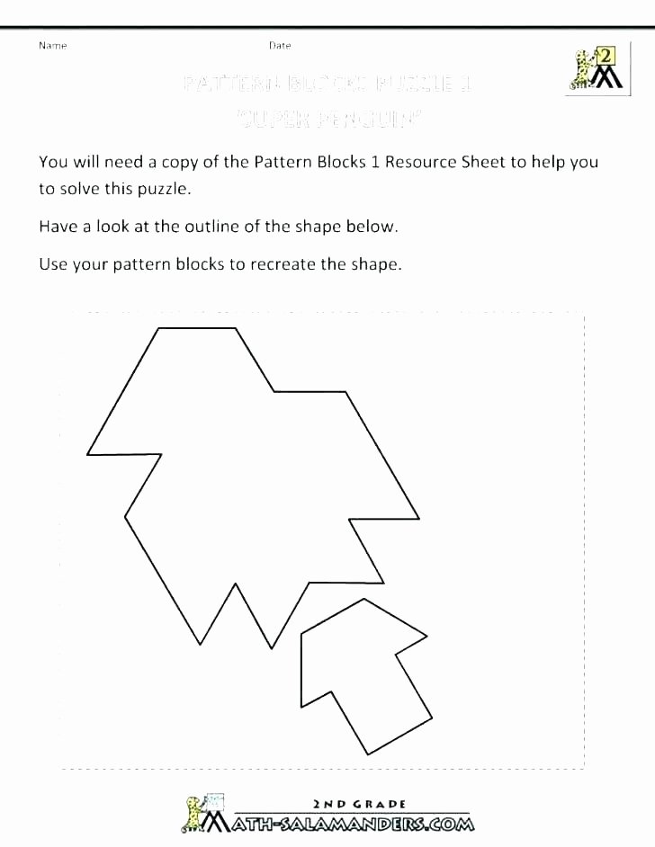 Pattern Blocks Worksheets area Worksheets 2d and 3d Shapes Worksheets 2nd Grade 3d