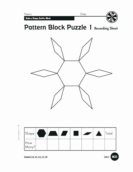 Pattern Blocks Worksheets Pattern Blocks Template – atlasapp