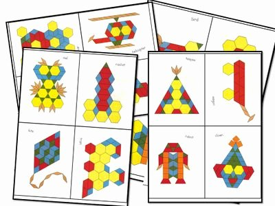 Pattern Blocks Worksheets Robin Lamley Rcknrudy On Pinterest