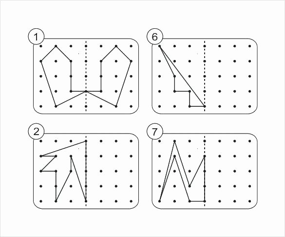 Pattern Blocks Worksheets Symmetry Worksheets Grade 3