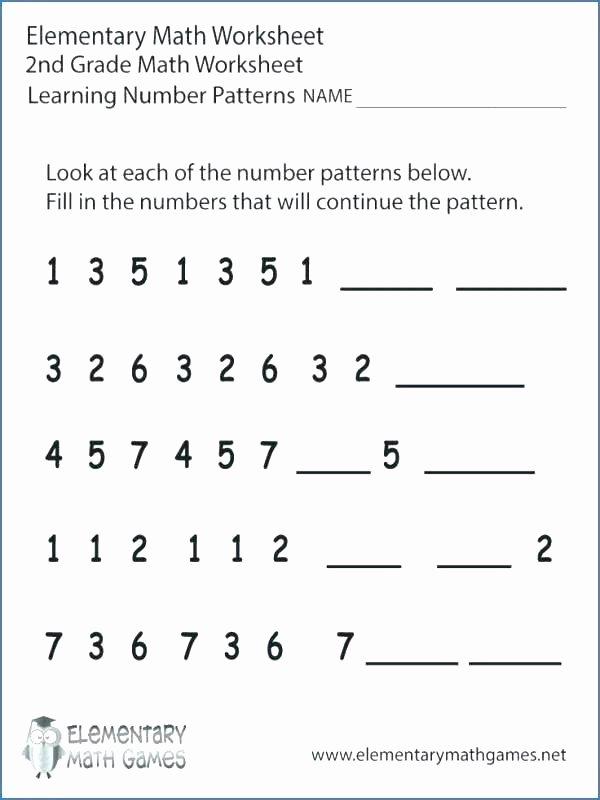 Pattern Worksheets 4th Grade Counting Patterns Worksheets Grade 2 – Primalvape