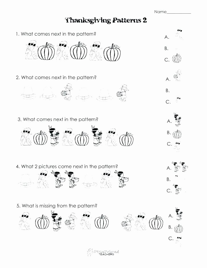 Pattern Worksheets 4th Grade Pattern Recognition Worksheets Grade 1 Easy Writing 1st