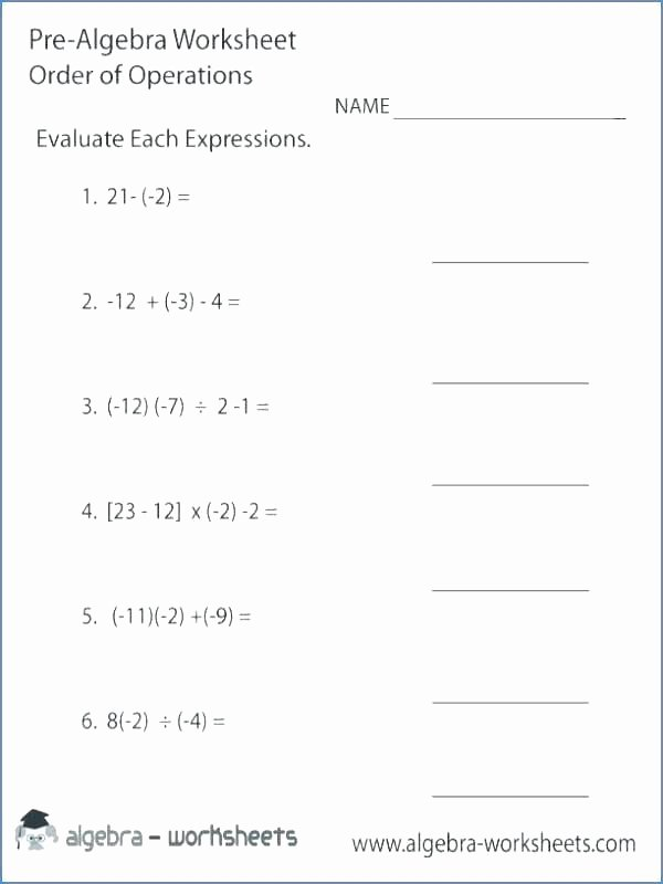 Pemdas Practice Worksheets order Of Operations Worksheets with Answers