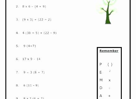 Pemdas Practice Worksheets Pemdas Math Problems Worksheets Math Worksheets for Grade