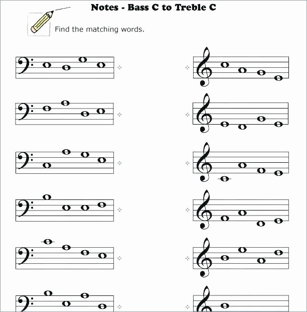 Pen Control Worksheets Best Piano Music Ed and Bass Clef Note Reading