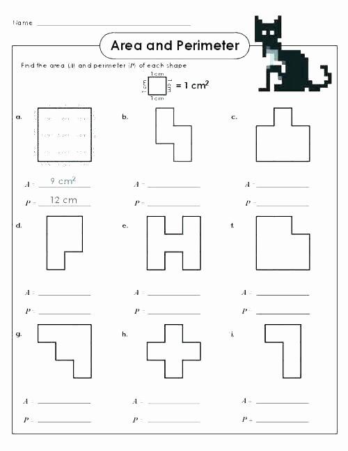 Perimeter Worksheet 3rd Grade area Perimeter Worksheets and Lesson Plan Sample with