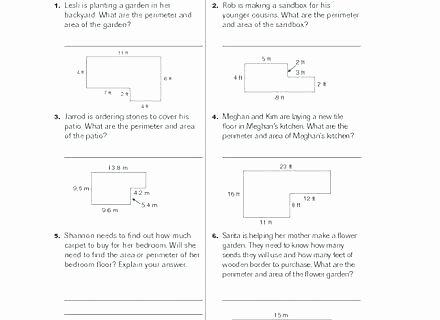 Perimeter Worksheet 3rd Grade area Worksheets Grade 7 Perimeter Worksheet A Square with