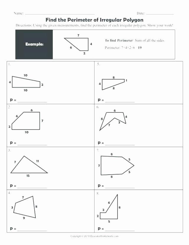Perimeter Worksheet 3rd Grade Finding Perimeter Worksheets area Grade Printable Worksheet