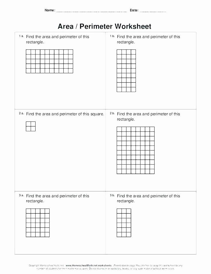 Perimeter Worksheet 3rd Grade Free Perimeter Worksheets