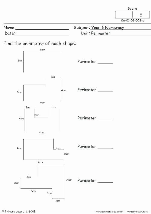 Perimeter Worksheet 3rd Grade Printable Perimeter Worksheets Unit Free for Third Grade