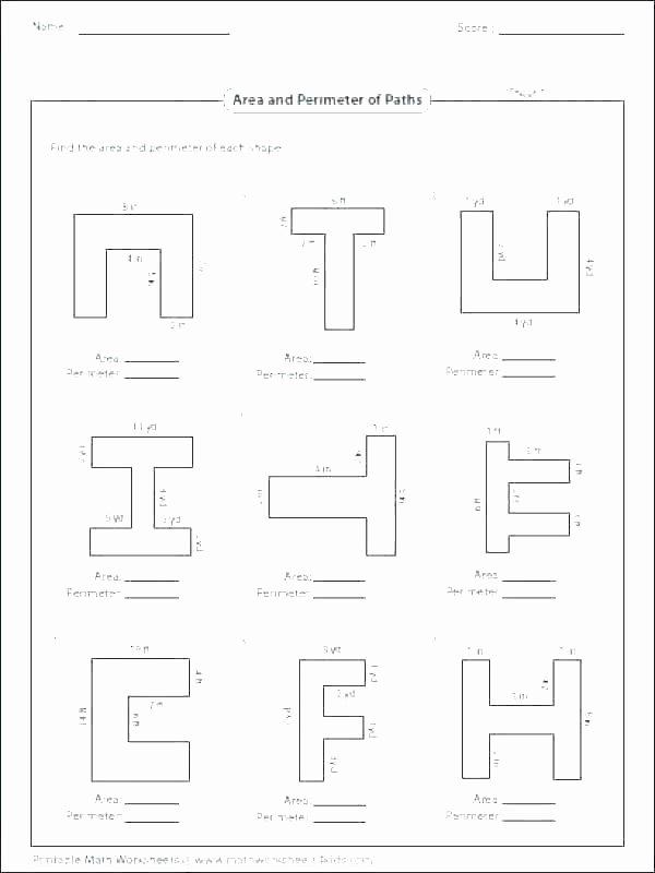 Perimeter Worksheet 3rd Grade Third Grade Perimeter Worksheets