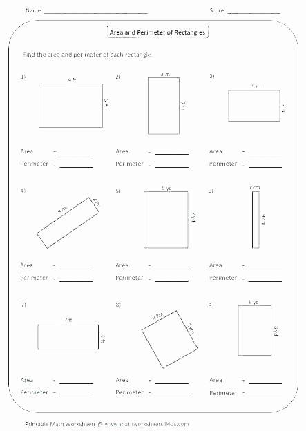 Perimeter Worksheet for 3rd Grade area and Perimeter Worksheets Grade 7