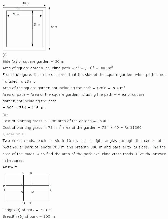 Perimeter Worksheet for 3rd Grade area Worksheets Grade 7 Perimeter Worksheet A Square with