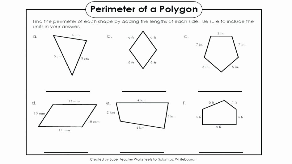 Perimeter Worksheet for 3rd Grade Finding Perimeter Worksheets Grade area Irregular Shapes