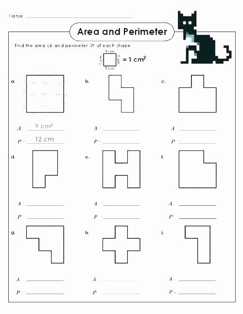 Perimeter Worksheet for 3rd Grade Math Worksheets for Grade 4 Perimeter and area – Akasharyans